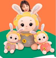 Neue kreative Geschenke 30 ~ 100cm Schöne Sunflower Kaninchen Plüsch Hase weich Tier Gefüllte Kissen-Kissen-Geburtstag Puppe-Mädchen-Kinder-Foto Props