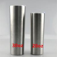 En ucuz 20oz Sanded Bardaklar Glitter Paslanmaz Çelik Skinny tumber ile LidStraw Çift Yalıtım Vakum Su Şişeleri Büro Kahve Kupalar A12