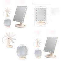 22 LED شاشة اللمس ماكياج مرآة المهنية أضواء مرآة الغرور الصحة الجمال قابل للتعديل كونترتوب 180 الدورية 69 P2