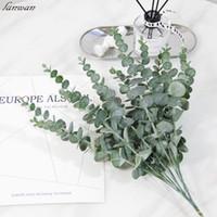 Simulação planta folha decoração flor alta qualidade plástico material eucalipto casamento casamento decoração