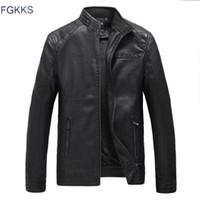FGKKS Marque Moto Cuir Vestes Hommes Automne et Hiver Cuir Vêtements Hommes Vestes Mâle Entreprise Manteaux occasionnels