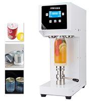 Máquina de selagem de latas PET / máquina de vedação de garrafa de alumínio 55mm café / leite chá / bebida selante de garrafa 330/500 / 650ml latas selador