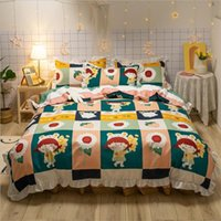4 stks meisjes beddengoed sets 2020 gedrukt bed pak dekbedovertrek warme laken designer beddengoed levert op voorraad