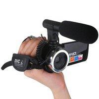 Profissional 4K HD Camcorder Video Câmera Night Vision 3.0 Polegada LCD Touch Screen Câmera 18x Digital Zoom com Microfone