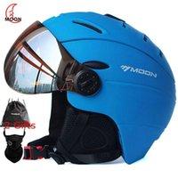 Mondprofessioneller Integral-geformter halbdauer Skihelm Sportmänner Frauen Schnee Skifahren Snowboard-Helme mit Schutzbrillen