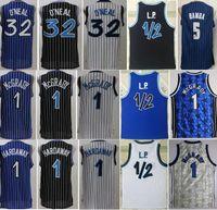 Баскетбол Мохамед Бамба Джерси Трейси McGrady Shaquille Leal O Neal Penny Hardway LP Penny Anfernee Винтаж сшитые черным синим белым