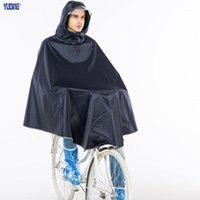 Yning Rain Poncho Polyester велосипед толстый дождевик профессиональный дождь пончо мужская светоотражающая лента велосипедный плащ1