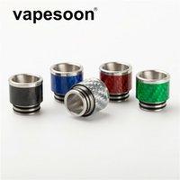 Vapesoon001 810 ss углеродное волокно капельный наконечник tfv8 широкий протягивает капельницы 810 мундштуки для tfv8 большой ребенок tfv12 танк аторизаторы dhl бесплатно