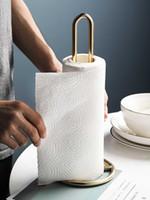 Boîtes de mouchoirs de tissus serviettes nordique lumière de luxe de luxe papier essuie-serviette ornements de table de salle à manger cuisine salle de bain porte-rouleau épais stockage debout