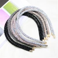 Superflash Diadema delgada Edge con taladro Mujer Cristal Bandas de pelo Versátil Temperamento Sencillez Pelo Hoop Accesorios 1 85LS K2B