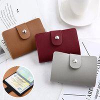 Nova Função de Couro PU 24 Bits Case Cartão De Visita Titular Homens Mulheres Crédito Passaporte Bag ID Passaporte Wallet H088