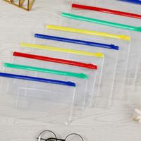 Wholesale Sacs à crayons Test Articles Clear File Sacs Bureau Fournitures d'école pour enfants 4 Couleurs Crayon Case A12