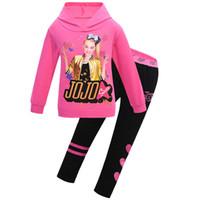 Girls Jojo Siwa Crianças Conjuntos Roupas de Inverno T-shirt + Calças 2 pcs Manga Longa Zipper Set Spring Hoodies Adolescentes Meninas Xmas Outfitsx1019