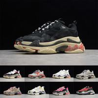 Homme Triple S Triple S Tripers S Baskers 17fw Blanc Blanc Triples Triples Baskets De Designer Vieux Dad Mode Casual Plateforme Chaussures pour hommes Femmes