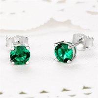 Ladies Luxury Earrings Gem Diamond Jewelries 2021 New Arrival Design Dress Jewelry Gift Ear Studs 925 Sterling Silver Cubic Zirconia Earring