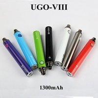 Multicolor de alta calidad UGO VIII Vape Pen Kit de baterías 1300mAh E Cigarrillos Vape Cartuchos Batería 510 Batería de hilo para vapor de atomizador