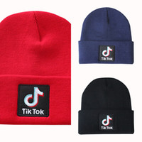 Beanie Embroidery Letter Tok- tik Knitted Woolen Cap Hood Col...