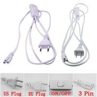 T5 T8 Bağlayıcı Kablo 3 Pin 150 cm ABD AB Tak ile Anahtarı Güç Kablosu Uzatma Kablosu Entegre LED Tüp DHL Ücretsiz Nakliye Için