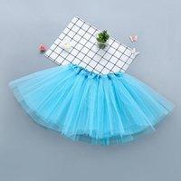 10 colores de alta calidad Color Color Color Niños Tutus Falda Vestidos Danza Suave Tutu Vestido Ballet Falda Pettiskirt Ropa 10pcs / Lot 14 O2