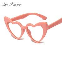 LongKeeper Heart Shaped Blue Light Blocking Kids Glasses TR90 Children Boy Girls Computer Transparent Anti Reflective Eyeglasses