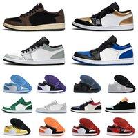 2020 jumpman 1 1S Низкие Мужские Баскетбольные Обувь UNC Обратный разводной Разбитый Backboard Game Royal Toe Mocha Мужские Женщины Тренеры Спортивные кроссовки