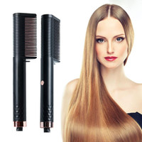 Newly Electric Hair Straightening Brush and Curler Comb Prof...