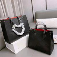 Bolsa de compras grande de doble cara Grande Capacidad femenina hombro de un solo hombro bolsas de mensajero de cuero genuino Mujer Bolsos de mujer Bolso de mujer
