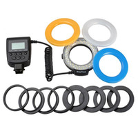Lampeggia Mini anello Flash Pografia LED SLR Fill Light per lenti macro