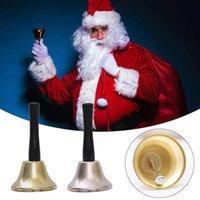Or argent de Noël Xmas Party main de Bell outil habiller comme le Père Noël de Noël de Bell Rattle Nouvel An Décoration Noble Dîner de réception