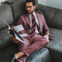 SODIGNE 2021 Britannique de style Britannique Mans Coating Personnaliser Winter Wroom Second Party Fête Blazer Blazer (Veste + Pantalon)