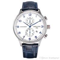 HOLUNS 2020 QUARTZ Montres Hommes Business Mens Montre Luxe Simple Étanche Sport Populaire Hommes Hommes Sangle En Cuir Montres Montres Horloges BRW