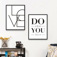 Sure Life Love Signo Haz lo que amas palabras Minimalistas Pinturas de lienzo Blanco Blanco Imprimible Arte de la pared Cartel Carteles Decoración del hogar1