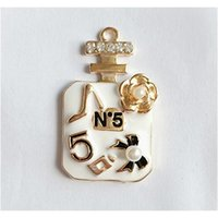 Perfume garrafa colar pulseira encantos no5 diy jóias acessórios componentes semi-acabados para jóias fazendo w sqcweg Queen66