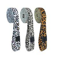 Bandes de résistance 3pcs bande butin sexy léopard cercle cercle boucle de boucle d'entraînement d'entraînement pour jambes cuisse blanc busquat antidérapant