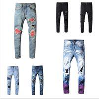 2020 hommes Designers Jeans Pantalon de poche Mens Pantalons Meilleure qualité Trou déchirée Teenagers Streetwear Style Vêtements Pants