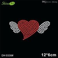 Free shipping Heart Shape Hot Fix Rhinestone Motif transfer flatback stone for clothing DIY DH0338#
