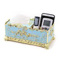 Cajas de pañuelos de papel de la servilleta de la servilleta de la servilleta para el baño del baño del baño del soporte del papel higiénico Caja de almacenamiento de estilo vintage de lujo T200425
