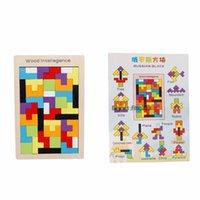 Tangram colorido Tangram Cérebro Teaser Puzzle Brinquedos Tetris Game Pré-escolar Maginação Intelectual Educacional Educacional Kid Gahh 2021