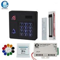 Système de contrôle d'accès de porte IP d'extérieur IP étanche RFID RFID Reader + Serrures de frappe magnétique électroniques + DC12V Alimentation1