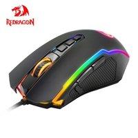 Redragon Ranger M910 RGB USB Oyun Fare Kablolu 12400 DPI Masaüstü Bilgisayar için 10 Düğmeler Ergonomik Programlanabilir Fareler PC Gamer LJ200930