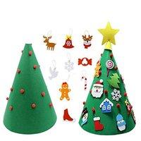Año Nuevo árbol de bricolaje 2020 Regalos de Navidad Niños Juguetes árbol artificial pared cuelgan adornos de Navidad Decoración para el hogar 50x70cm