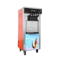 Crème glacée Making Machine commerciale 3 faveur verticale 6L * 2 Soft Service à vendre