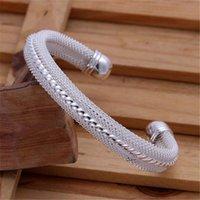 Voor vrouwen mannen bruiloft sieraden kerstcadeau zilveren kleur sieraden mode eenvoudige vrouwen klassieke armband b021 h sqcuxp