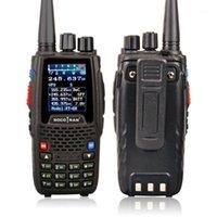 KT-8R رباعية الفرقة WALKIE UHF VHF 136-147 ميجا هرتز 400-470 ميجا هرتز 220-270 ميجا هرتز 350-390 ميجا هرتز المحمولة 5 واط uv اتجاهين راديو اللون عرض 1