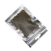 10 * 18 cm Green opaco anteriore trasparente foglio di alluminio con chiusura a zip borse da imballaggio per semi fagioli mylar foglio richiudibile stoccaggio sospeso