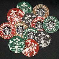 Силиконовые приборы Чашки Коврики Pads Держатель подушки для стола для стола Украшения Starbucks Морская горничная Кофе для кофе 85 * 85 * 3 мм Силиконовые коврики