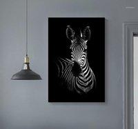 Afrika Vahşi Hayvanlar Tuval Boyama Gerilmiş DIY Ahşap Katı Çam Ahşap Resimleri Çerçeve Poster Baskı Duvar Sanatı ile Ev Decor11