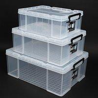 البلاستيك تخزين مربع الحذاء تخزين مربع سيارة المنزل شفافة الانتهاء أجزاء مستطيلة أجزاء كبيرة لعبة تخزين مربع