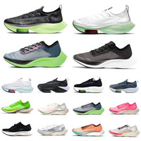 zoom vaporfly next% zoomx ışık canlı yeşil erkek koşu ayakkabıları ekiden kediotu mavi kurdele yelken pembe erkek kadın eğitmenler spor ayakkabı