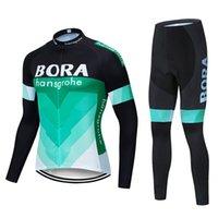 보라 팀 사이클링 유니폼 (남자) 롱 Sleevess 사이클링 저지 젤 패드 자전거 세트 MTB Sobycle 로파 Ciclismo 남성 자전거 착용 L -10